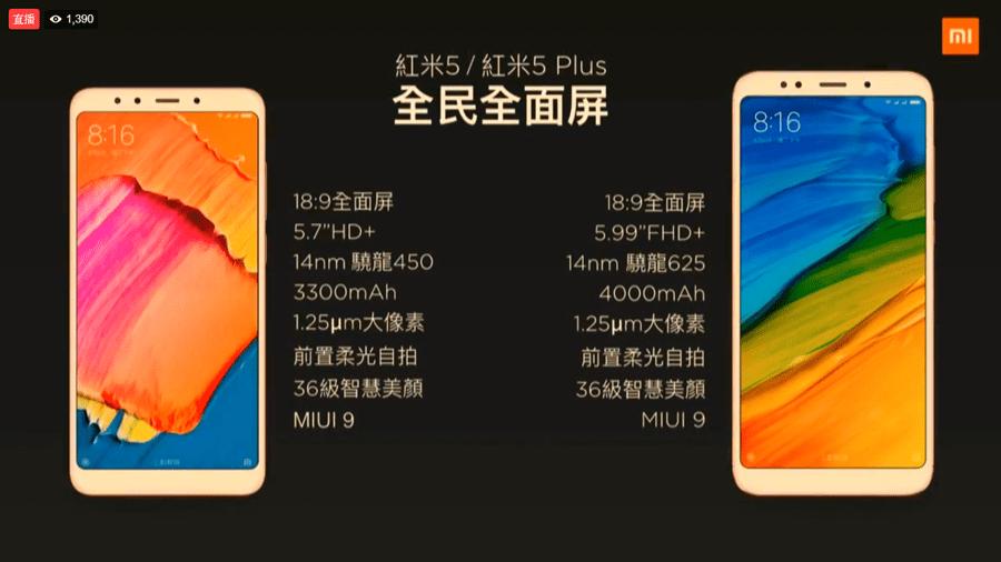 全面螢幕手機時代來臨!紅米 5、紅米 5 Plus 4000 元輕鬆入手 39