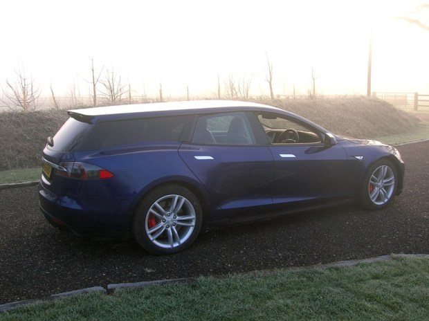 電動車多了新成員,以 Tesla Model S 改造的 Shooting Brake tesla-shooting-brake-london-show-4-1