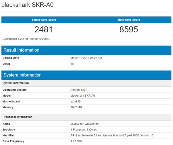 小米電競手機 Blackshark(黑鯊) 安兔兔+Geekbench 效能規格跑分出爐 %E5%B0%8F%E7%B1%B3blackshark-%E9%BB%91%E9%AF%8A-geekbench