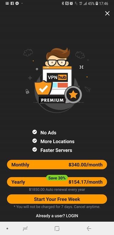 成人網站 PornHub 推出免費 VPN 服務 VPNhub,不限流量免費使用 Screenshot_20180525-174630_VPNhub