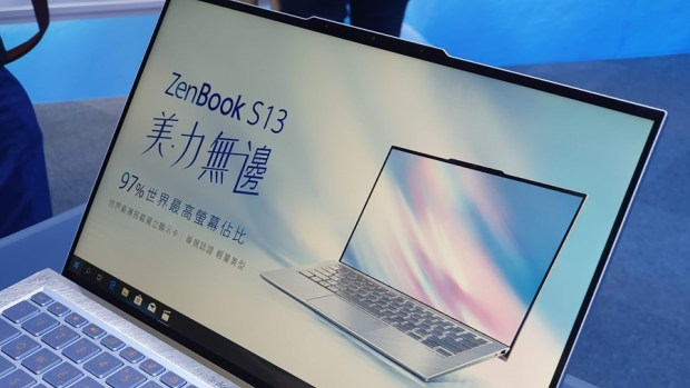 97% 超高螢幕佔比!華碩 ZenBook S13 (UX392) 輕薄筆電只有 1.1 公斤,還有 13.9 吋大螢幕! 20190509_132550
