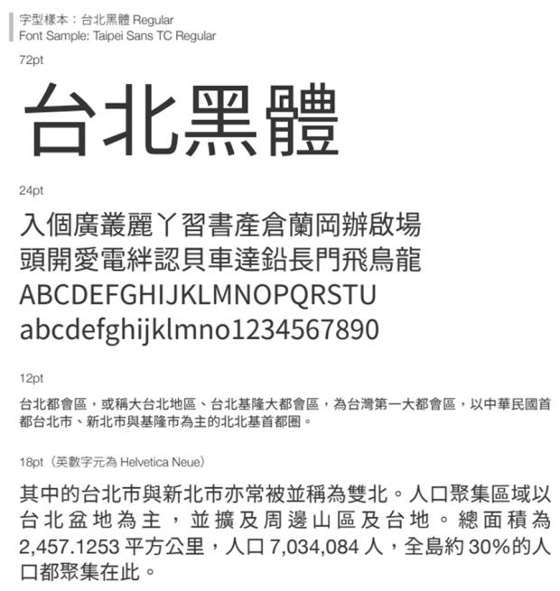 繁體中文字體「台北黑體」免費開源下載,更適合印刷,個人/商業皆可使用 Image-037-1