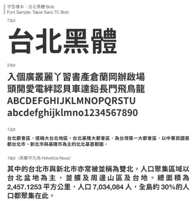 繁體中文字體「台北黑體」免費開源下載,更適合印刷,個人/商業皆可使用 Image-039-1