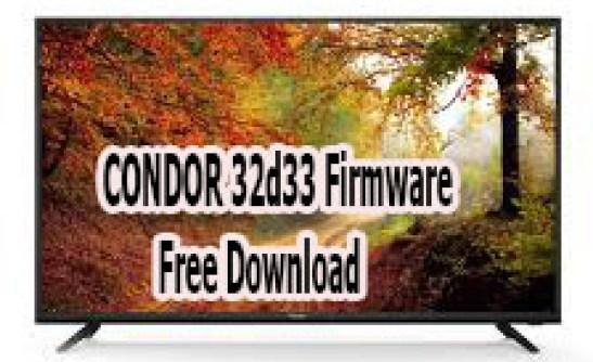 CONDOR 32d33 Firmware Free Download