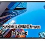 SAMSUNG UA50MU7000 Firmware Free Download