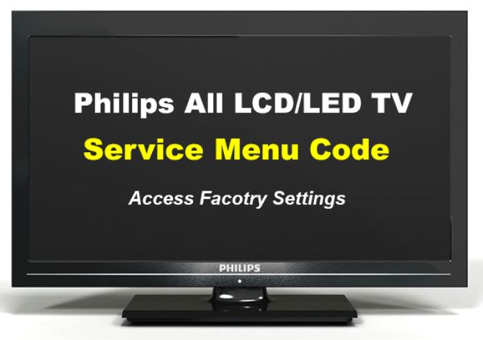 Códigos de menú del servicio de TV Philips