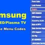 Samsung TV Service Menu Codes