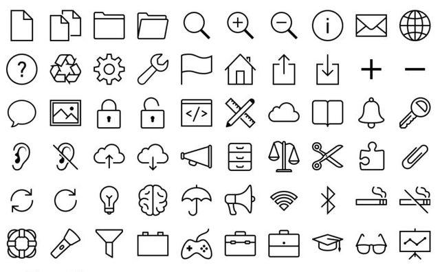 iOS 7 Iconos Un excelente pack con más de 800 iconos gratuitos de estilo iOS 7