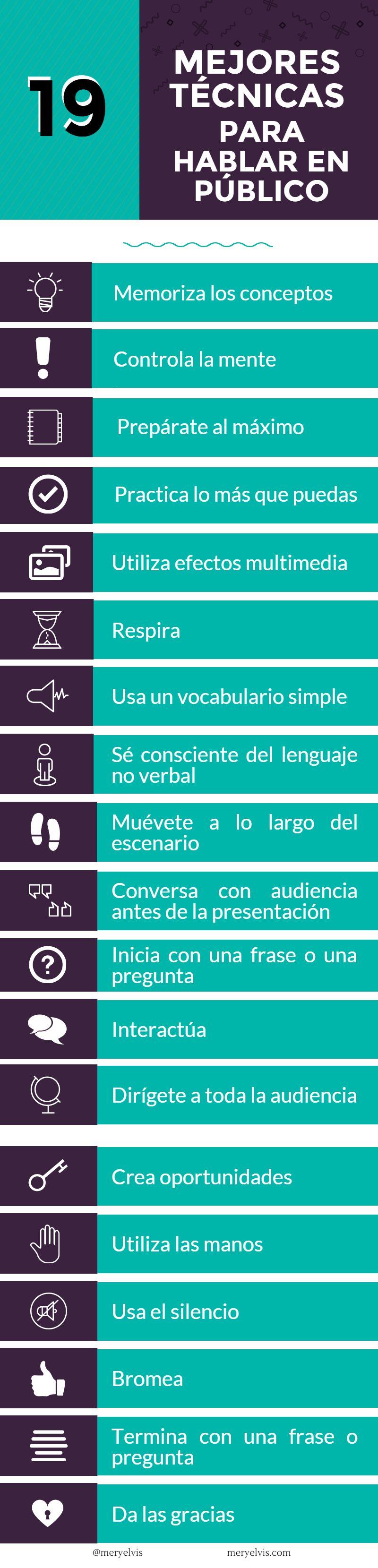 Tecnicas para Hablar en Publico2 19 buenas técnicas para hablar en público (infografía)