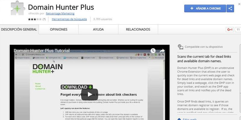 7 Herramientas SEO gratuitas que debes conocer Domain Hunter Plus 7 Herramientas SEO gratuitas muy poco conocidas