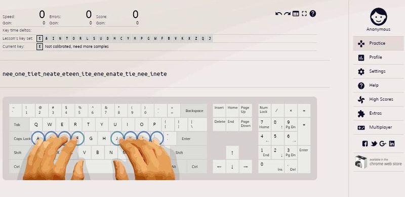 Aplicaciones web para ganar Velocidad al Teclado Keybr 5 aplicaciones web para mejorar tu Velocidad al Teclado