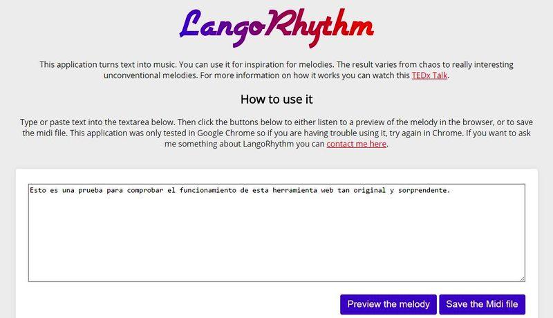 Herramientas web sorprendentes LangoRhythm 5 herramientas web sorprendentes que te van a encantar, todas son gratuitas
