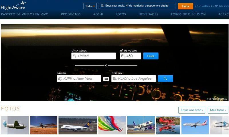 Páginas para seguir el tráfico aéreo y marítimo FlightAware 2 páginas para seguir el tráfico aéreo y marítimo en tiempo real