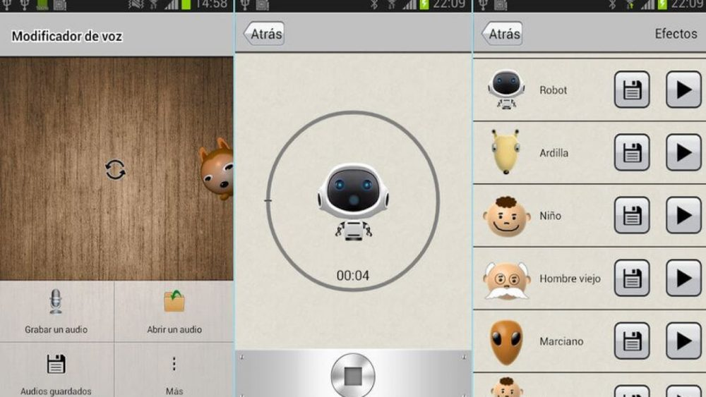 Modificador de voz gratuito para dispositivos con Android