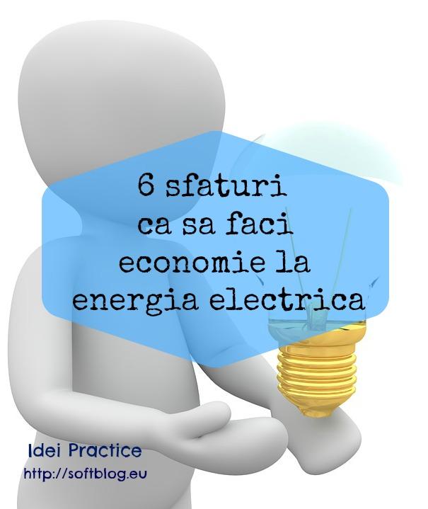 economie la energia electrica