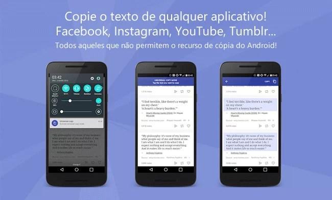 Copie qualquer texto no Android com o Universal Copy