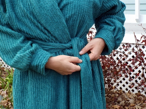 long chenille robe in classic colors made in usa in 6 sizes
