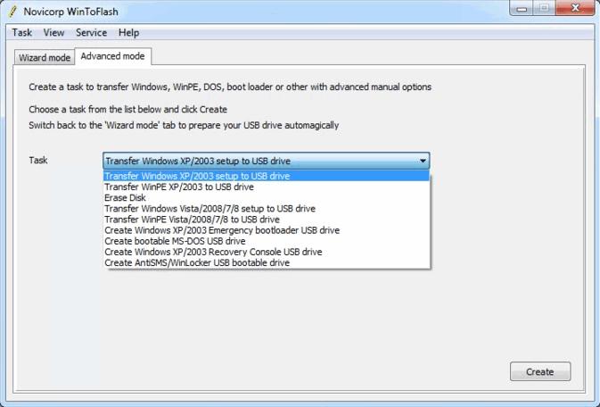 Wintoflash تحميل برنامج تثبيت الويندوز من الفلاش ديسك
