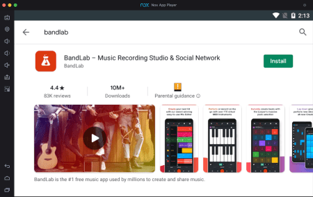 BandLab-pc-via-nox-app-player