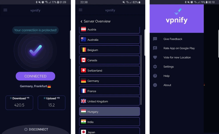 vpnify-app-screenshots