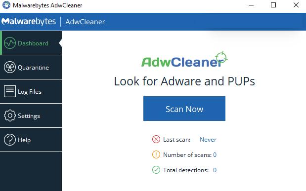 Malwarebytes AdwCleaner windows