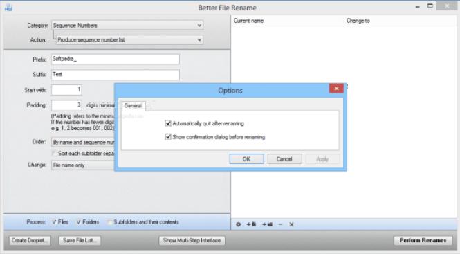 Better File Rename windows