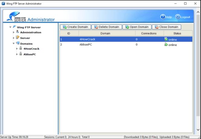 Wing FTP Server Corporate windows
