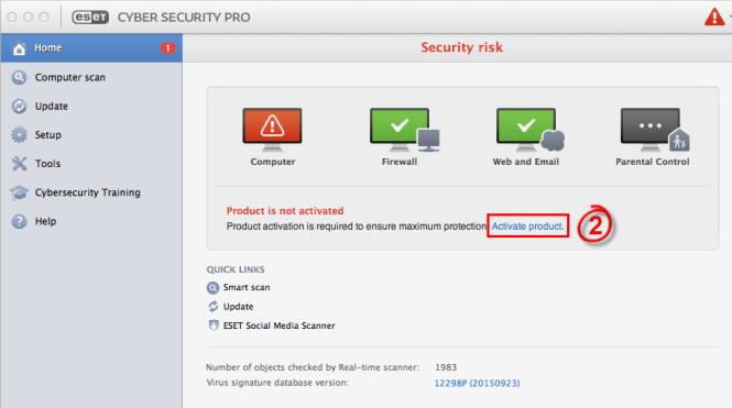 ESET Cyber Security Pro windows