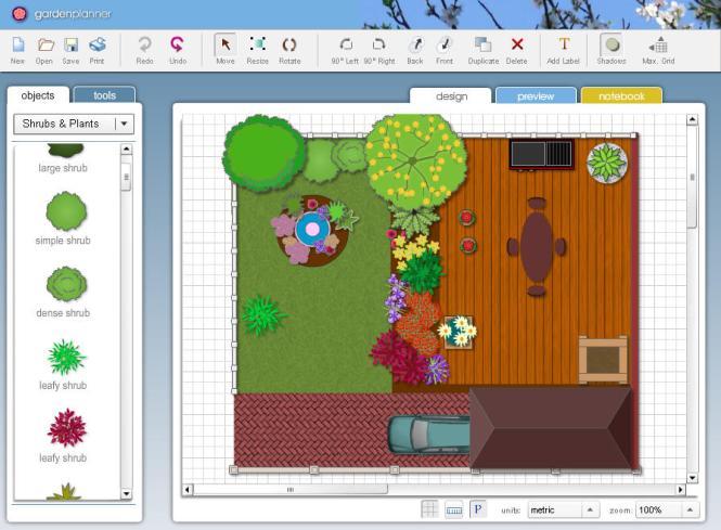 Garden Planner windows