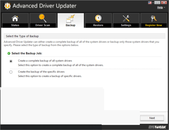 SysTweak Advanced Driver Updater windows