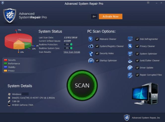 Advanced System Repair Pro windows