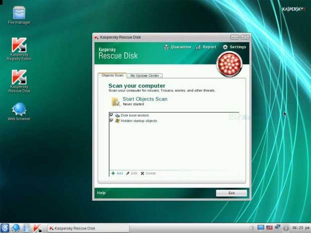 Kaspersky Rescue Disk windows