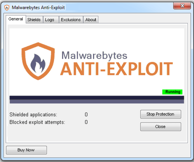 Malwarebytes Anti-Exploit windows
