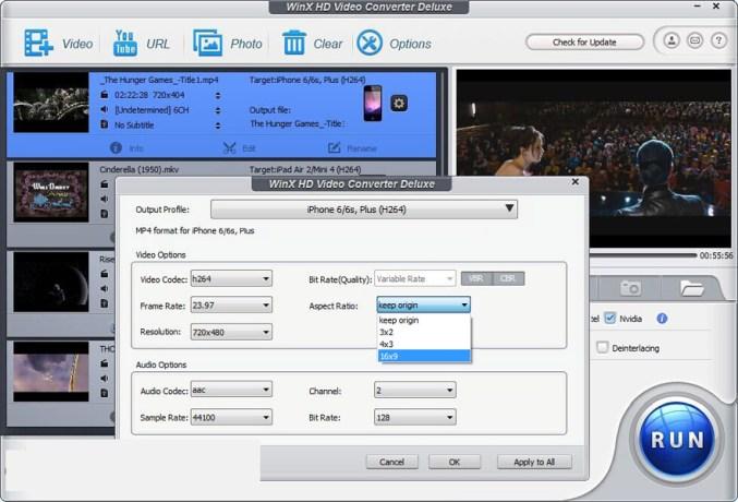 WinX HD Video Converter Deluxe latest version