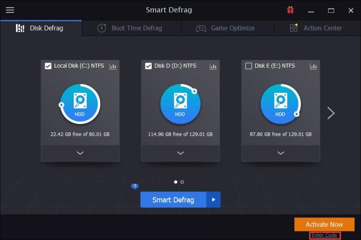 IObit Smart Defrag PRO windows