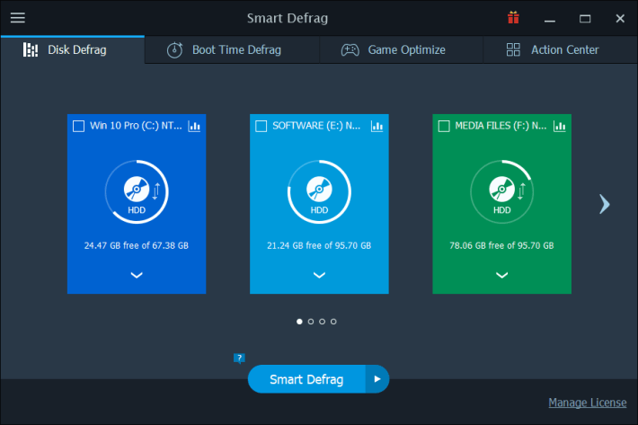 IObit SmartDefrag windows