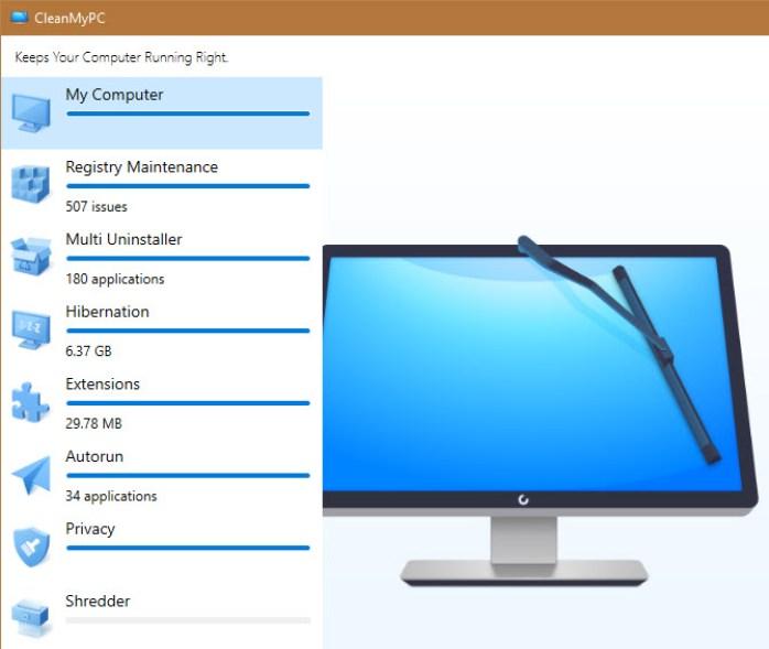 CleanMyPC windows