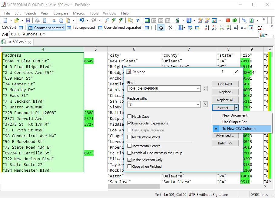 EmEditor Professional windows