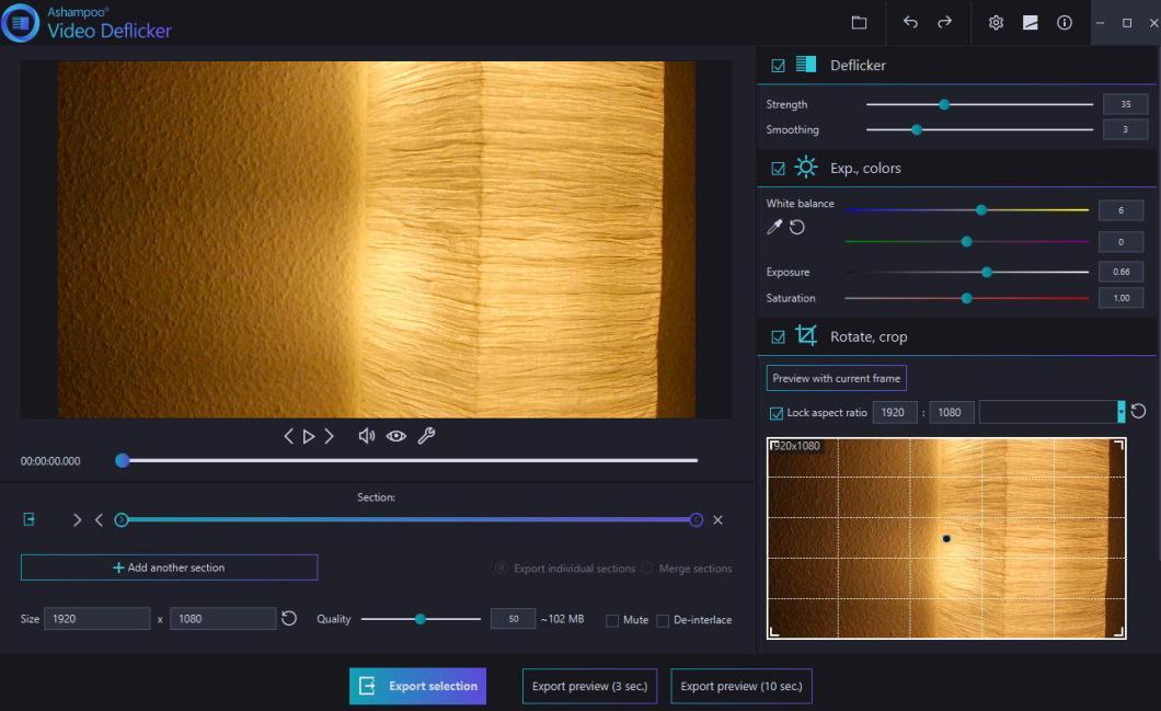 Ashampoo Video Deflicker windows