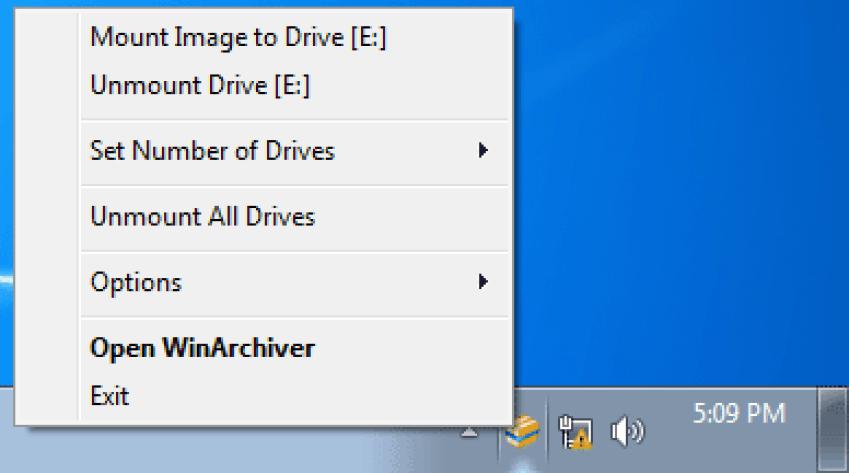 WinArchiver Virtual Drive windows
