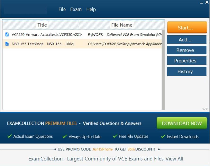 VCE Exam Simulator latest version