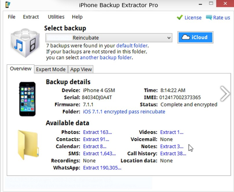 iPhone Backup Extractor lwindows