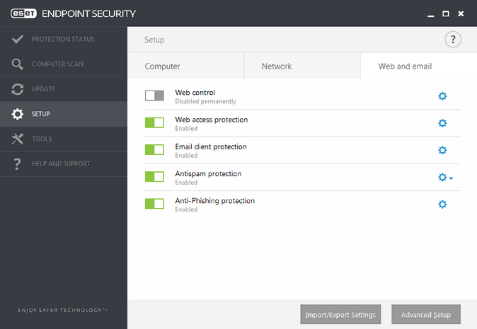 ESET Endpoint Security windows