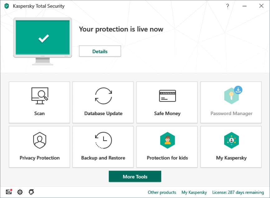 Kaspersky Total Security windows
