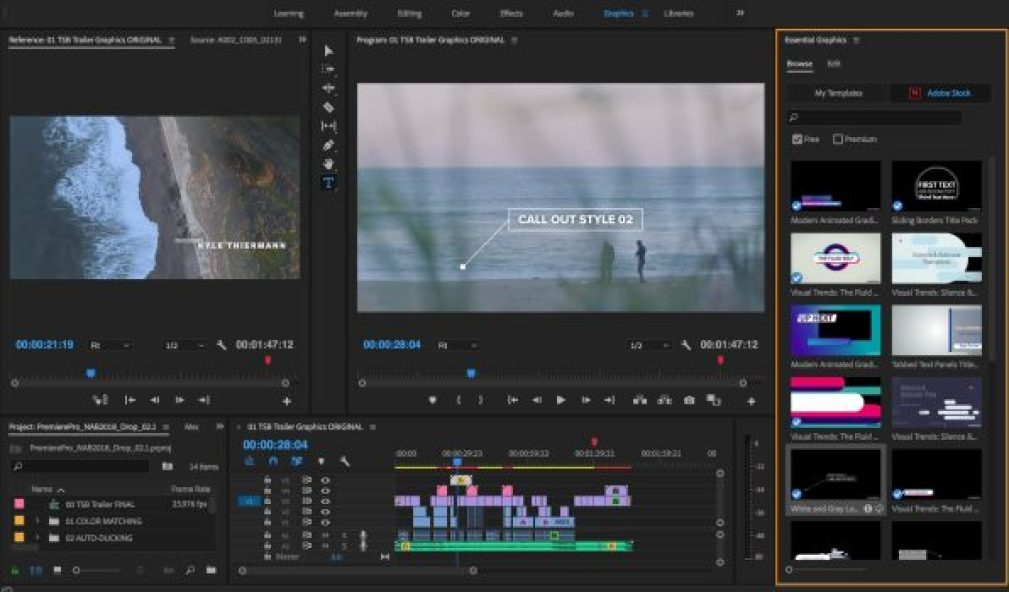 Adobe Premiere Pro windows