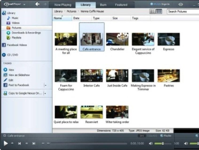 RealPlayer windows