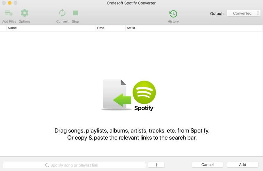 Ondesoft Spotify Converter windows