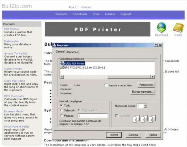 BullZip PDF Printer Expert latest version