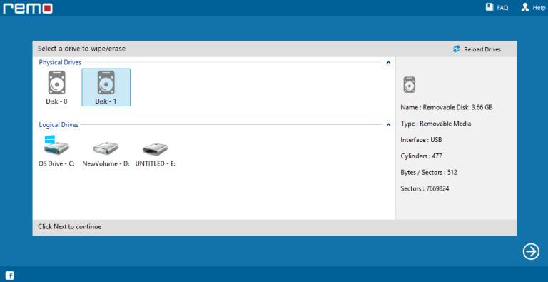 Remo Drive Wipe latest version