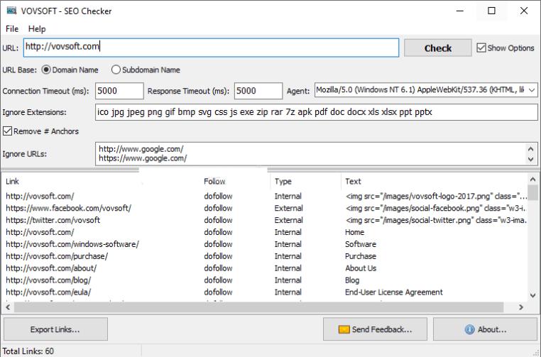 VovSoft SEO Checker latest version